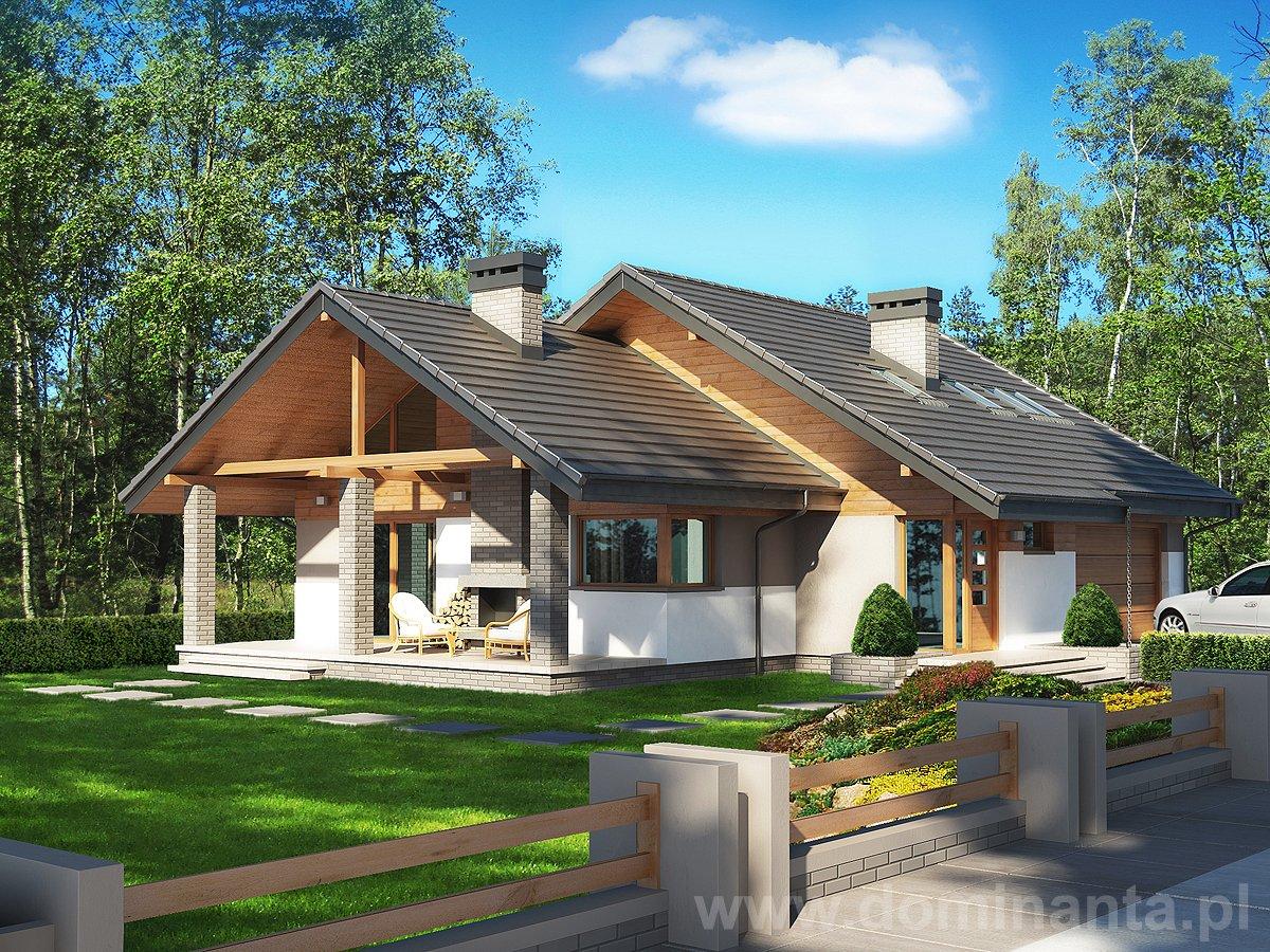 Projekt domu Maja II 2G - wizualizacja 1