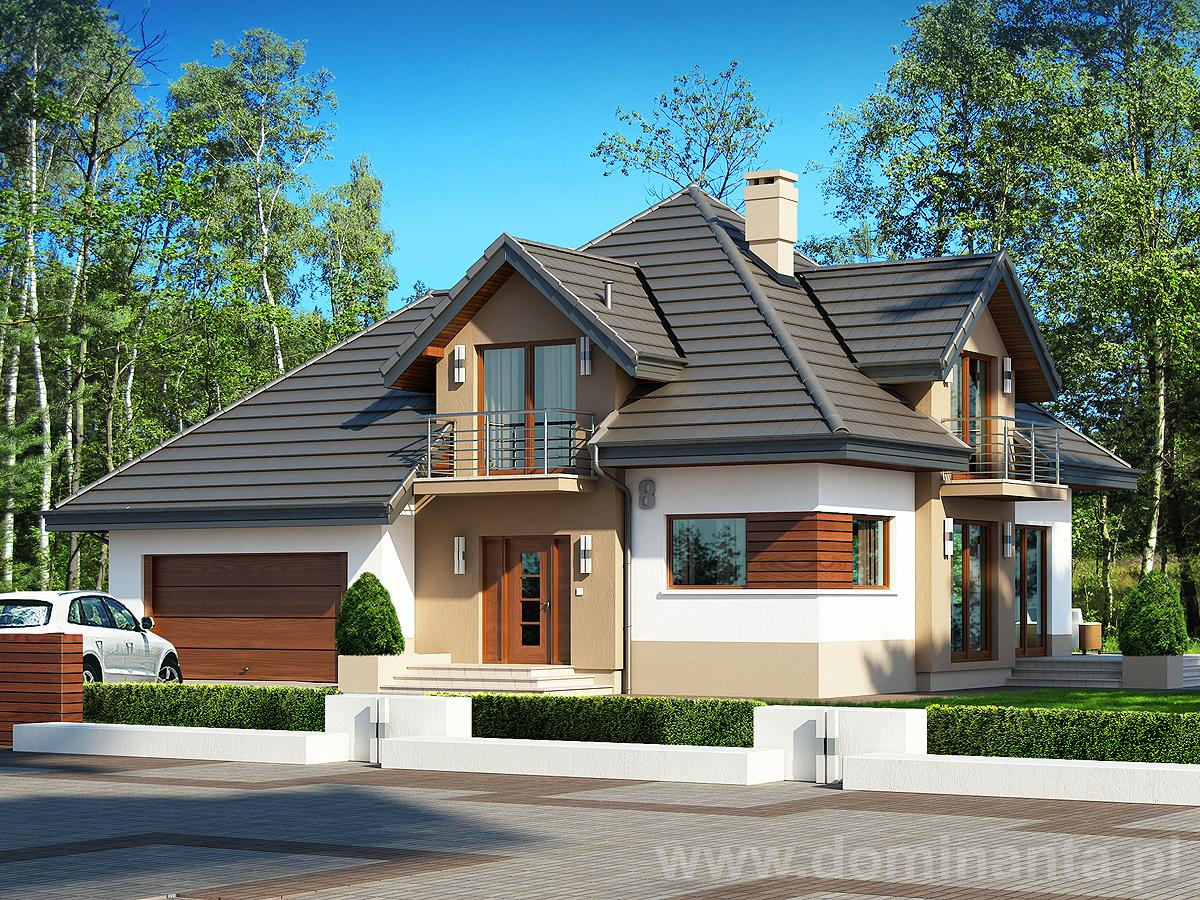 projekt domu opa ek ii n 2g projekty dom w dominanta. Black Bedroom Furniture Sets. Home Design Ideas